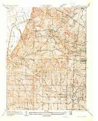 Download a high-resolution, GPS-compatible USGS topo map for Creve Coeur, MO (1933 edition)