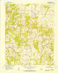 Download a high-resolution, GPS-compatible USGS topo map for Dadeville, MO (1957 edition)