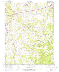 Download a high-resolution, GPS-compatible USGS topo map for Dillon, MO (1977 edition)