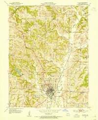 Download a high-resolution, GPS-compatible USGS topo map for Fayette, MO (1954 edition)