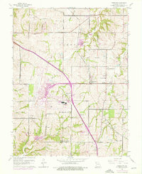 Download a high-resolution, GPS-compatible USGS topo map for Ferrelview, MO (1976 edition)