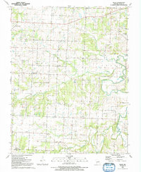 Download a high-resolution, GPS-compatible USGS topo map for Filley, MO (1992 edition)