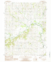 Download a high-resolution, GPS-compatible USGS topo map for Flat Creek, MO (1985 edition)
