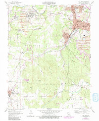 Download a high-resolution, GPS-compatible USGS topo map for Flat River, MO (1991 edition)