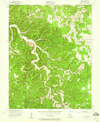 Download a high-resolution, GPS-compatible USGS topo map for Flat, MO (1959 edition)