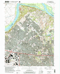 Download a high-resolution, GPS-compatible USGS topo map for Florissant, MO (1999 edition)