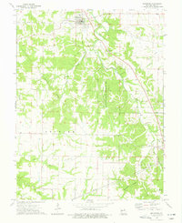 Download a high-resolution, GPS-compatible USGS topo map for Frankford, MO (1977 edition)