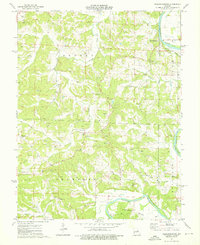 Download a high-resolution, GPS-compatible USGS topo map for Fredericksburg, MO (1976 edition)