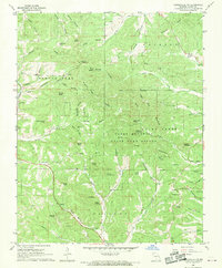 Download a high-resolution, GPS-compatible USGS topo map for Gainesville NW, MO (1970 edition)