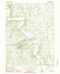 Download a high-resolution, GPS-compatible USGS topo map for Gallatin, MO (1985 edition)