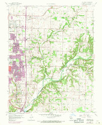 Download a high-resolution, GPS-compatible USGS topo map for Galloway, MO (1971 edition)