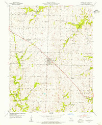 Download a high-resolution, GPS-compatible USGS topo map for Garden City, MO (1955 edition)