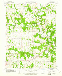 Download a high-resolution, GPS-compatible USGS topo map for Goss, MO (1961 edition)