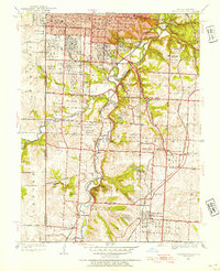 Download a high-resolution, GPS-compatible USGS topo map for Grandview, MO (1954 edition)