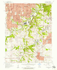 Download a high-resolution, GPS-compatible USGS topo map for Grandview, MO (1958 edition)