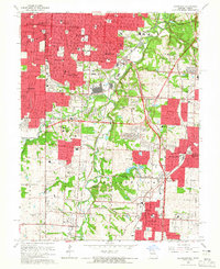 Download a high-resolution, GPS-compatible USGS topo map for Grandview, MO (1965 edition)