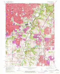 Download a high-resolution, GPS-compatible USGS topo map for Grandview, MO (1971 edition)