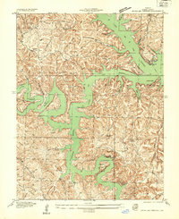 Download a high-resolution, GPS-compatible USGS topo map for Green Bay Terrace, MO (1934 edition)