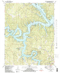 Download a high-resolution, GPS-compatible USGS topo map for Green Bay Terrace, MO (1983 edition)