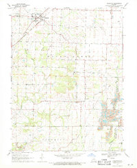 Download a high-resolution, GPS-compatible USGS topo map for Hallsville, MO (1971 edition)