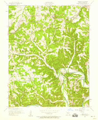 Download a high-resolution, GPS-compatible USGS topo map for Hancock, MO (1955 edition)