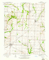 Download a high-resolution, GPS-compatible USGS topo map for Harwood, MO (1960 edition)