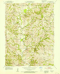 Download a high-resolution, GPS-compatible USGS topo map for Hilldale, MO (1953 edition)