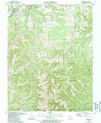Download a high-resolution, GPS-compatible USGS topo map for Hollister, MO (1989 edition)