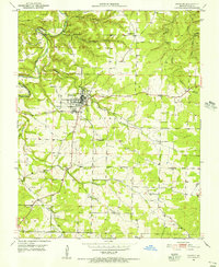 Download a high-resolution, GPS-compatible USGS topo map for Houston, MO (1956 edition)