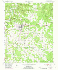 Download a high-resolution, GPS-compatible USGS topo map for Houston, MO (1981 edition)