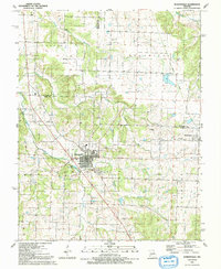 Download a high-resolution, GPS-compatible USGS topo map for Humansville, MO (1991 edition)