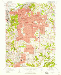 Download a high-resolution, GPS-compatible USGS topo map for Independence, MO (1958 edition)
