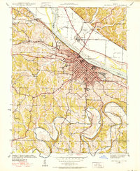Download a high-resolution, GPS-compatible USGS topo map for Jefferson City, MO (1939 edition)