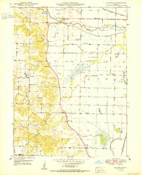 Download a high-resolution, GPS-compatible USGS topo map for Kahoka SE, MO (1950 edition)