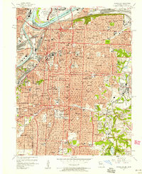 Download a high-resolution, GPS-compatible USGS topo map for Kansas City, MO (1958 edition)