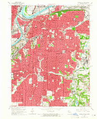 Download a high-resolution, GPS-compatible USGS topo map for Kansas City, MO (1965 edition)