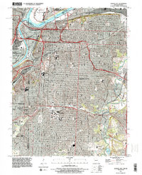 Download a high-resolution, GPS-compatible USGS topo map for Kansas City, MO (1995 edition)