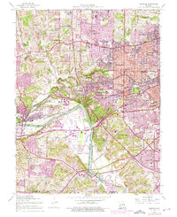 Download a high-resolution, GPS-compatible USGS topo map for Kirkwood, MO (1975 edition)