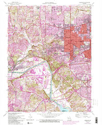 Download a high-resolution, GPS-compatible USGS topo map for Kirkwood, MO (1993 edition)