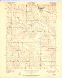 Download a high-resolution, GPS-compatible USGS topo map for La Belle, MO (1951 edition)