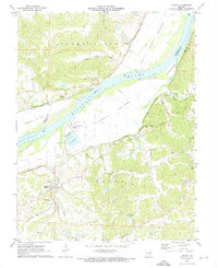 Download a high-resolution, GPS-compatible USGS topo map for Labadie, MO (1973 edition)