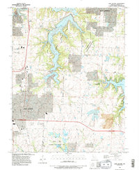 Download a high-resolution, GPS-compatible USGS topo map for Lake Jacomo, MO (1995 edition)