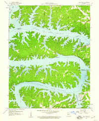 Download a high-resolution, GPS-compatible USGS topo map for Lake Ozark, MO (1960 edition)