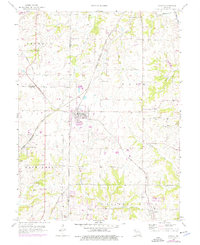 Download a high-resolution, GPS-compatible USGS topo map for Lawson, MO (1976 edition)