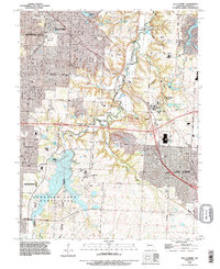 Download a high-resolution, GPS-compatible USGS topo map for Lees Summit, MO (1995 edition)