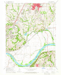 Download a high-resolution, GPS-compatible USGS topo map for Liberty, MO (1966 edition)