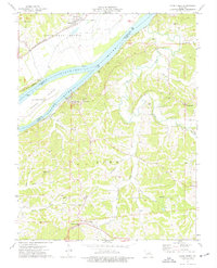 Download a high-resolution, GPS-compatible USGS topo map for Loose Creek, MO (1977 edition)