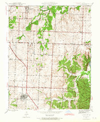 Download a high-resolution, GPS-compatible USGS topo map for Lowry City, MO (1965 edition)