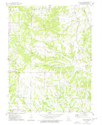 Download a high-resolution, GPS-compatible USGS topo map for Luckett Ridge, MO (1977 edition)