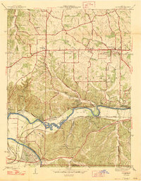 Download a high-resolution, GPS-compatible USGS topo map for Manchester, MO (1947 edition)